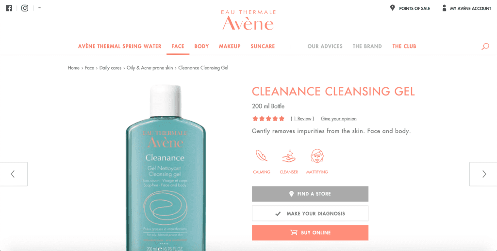 best facial wash in singapore_avene cleanance cleansing gel