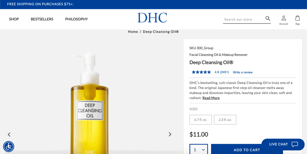 best facial wash in singapore_dhc deep cleansing oil