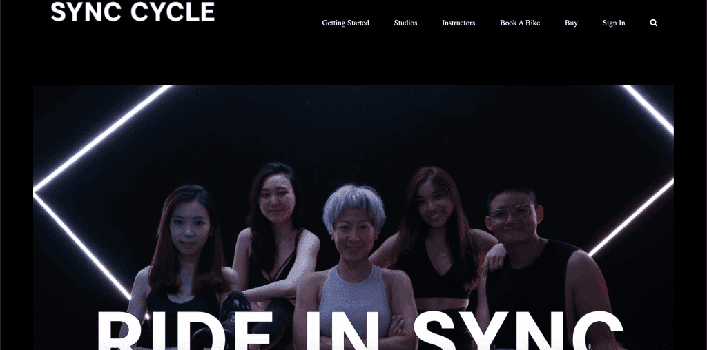 best spin class in singapore_sync cycle