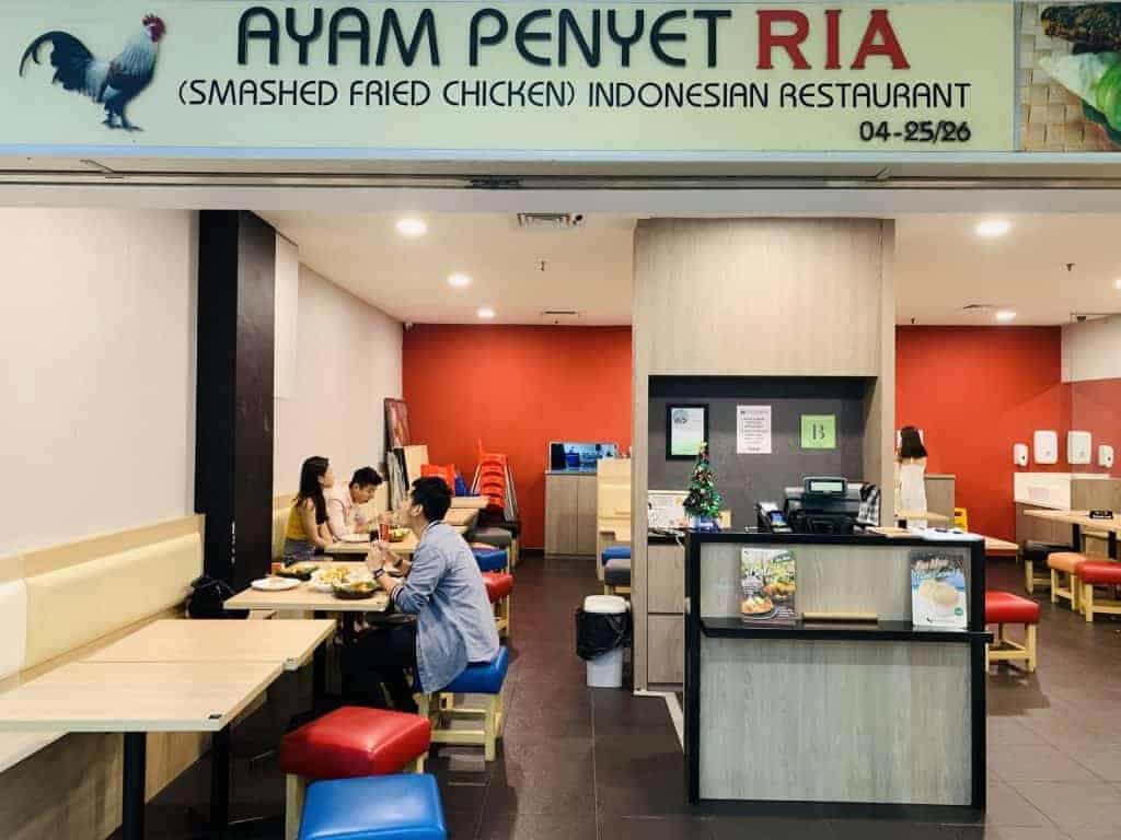 best indonesian restaurant in singapore_ayam penyet ria
