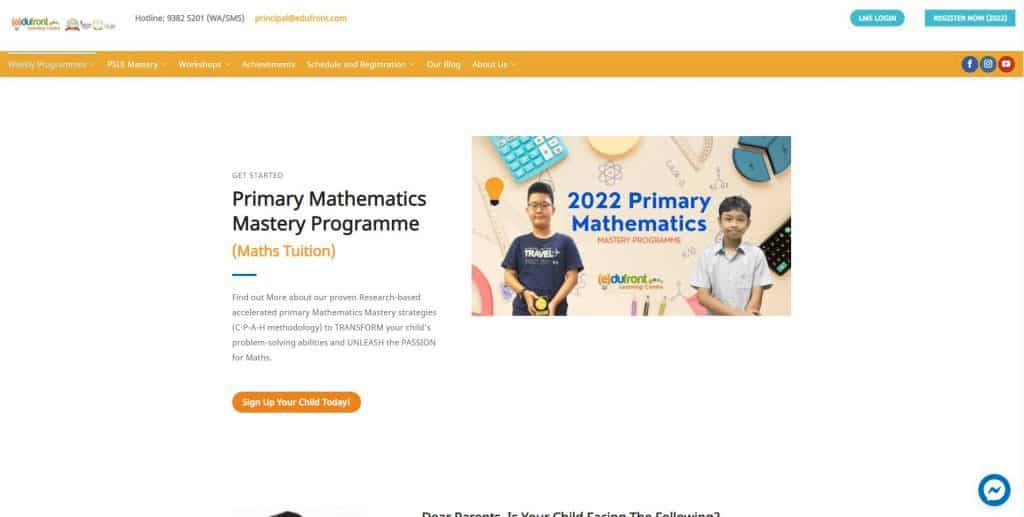 best math tuition in singapore_edufront learning centre