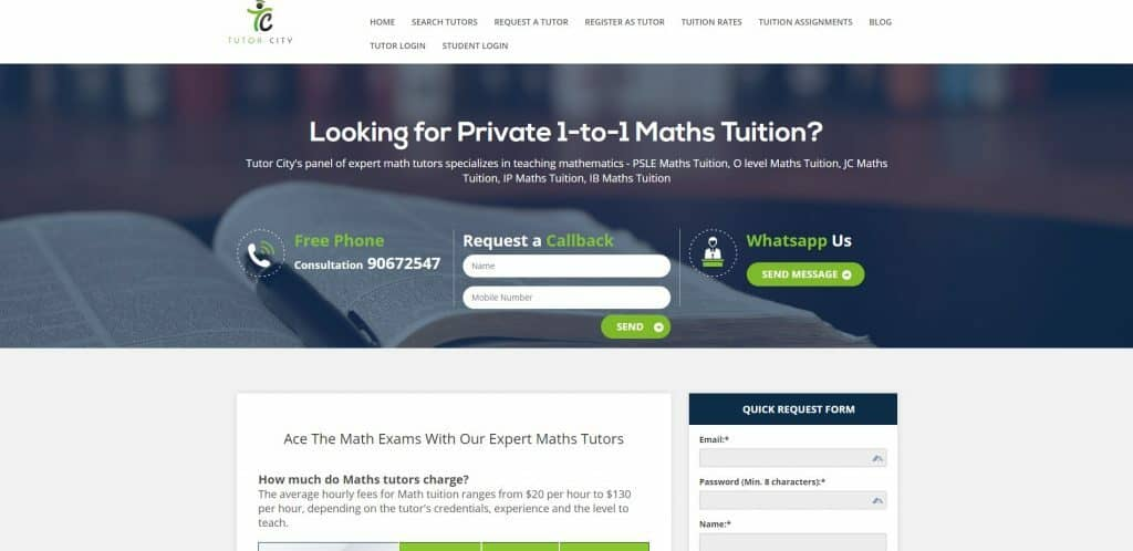 best math tuition in singapore_tutor city
