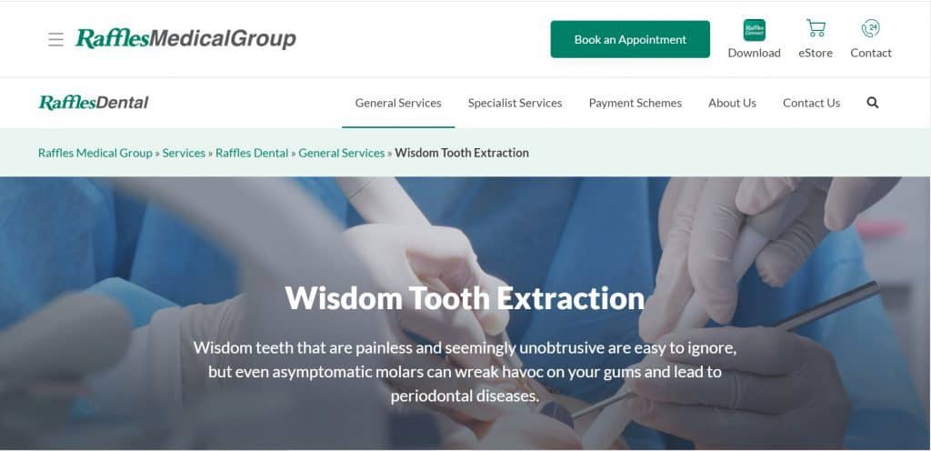 best wisdom tooth removal singapore
