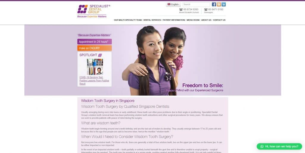 best wisdom tooth removal in singapore_specialist dental group