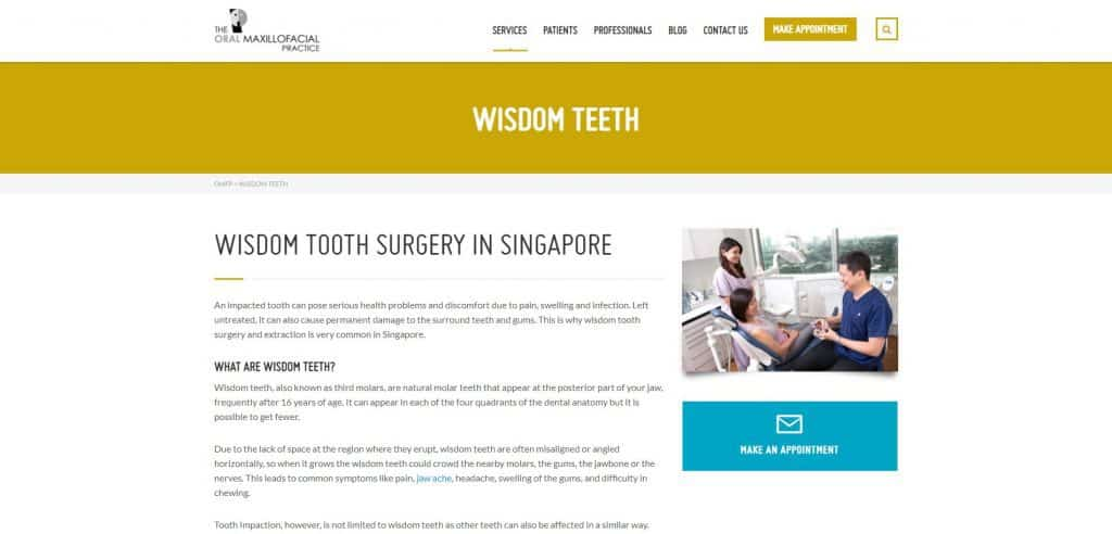 best wisdom tooth removal in singapore_the oral maxillofacial practice