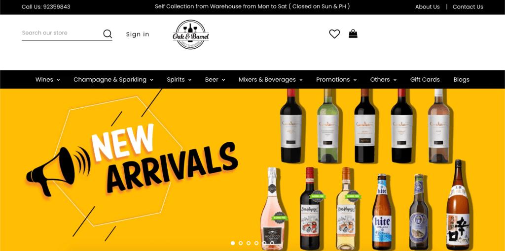 best alcohol delivery in singapore_oak & barrel
