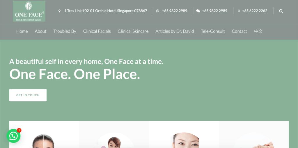 best pigmentation treatment singapore_one face skin & aesthetics clinic