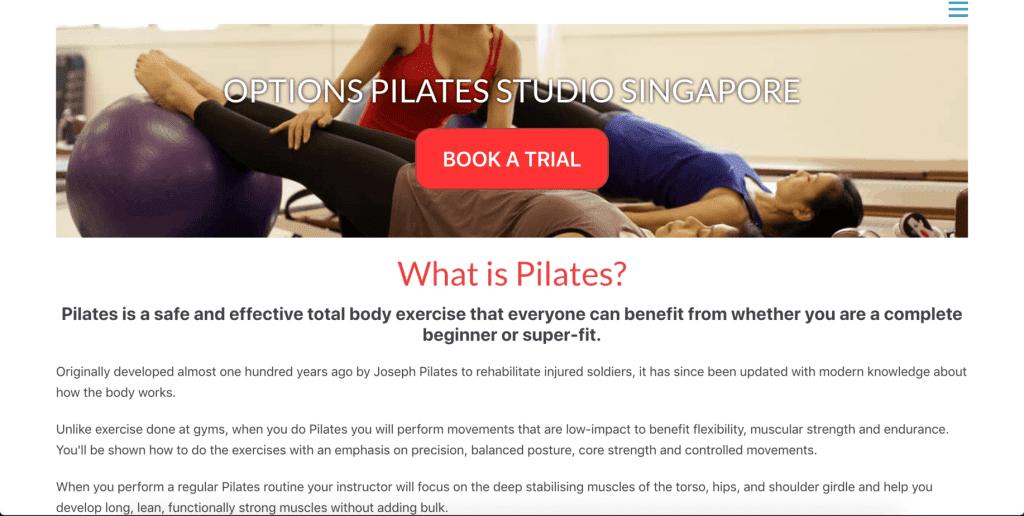 best pilates studio in singapore_options pilates studio