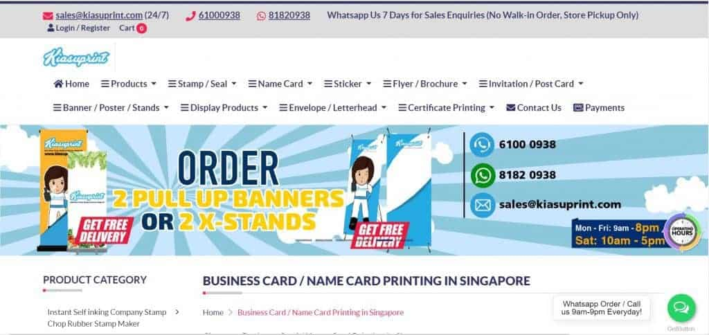 best name card printing in singapore