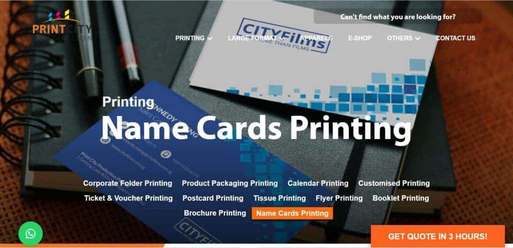 best name card printing singapore
