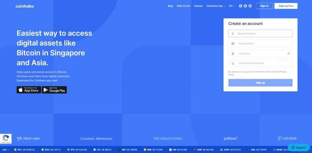 coinhako website