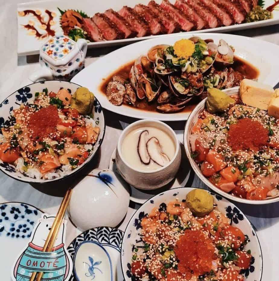 chirashi dons, chawanmushi, asari clams at omote singapore, serving one of the best japanese food in singapore