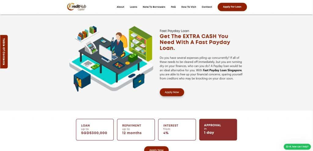 best payday loan in singapore_credit hub capital_page