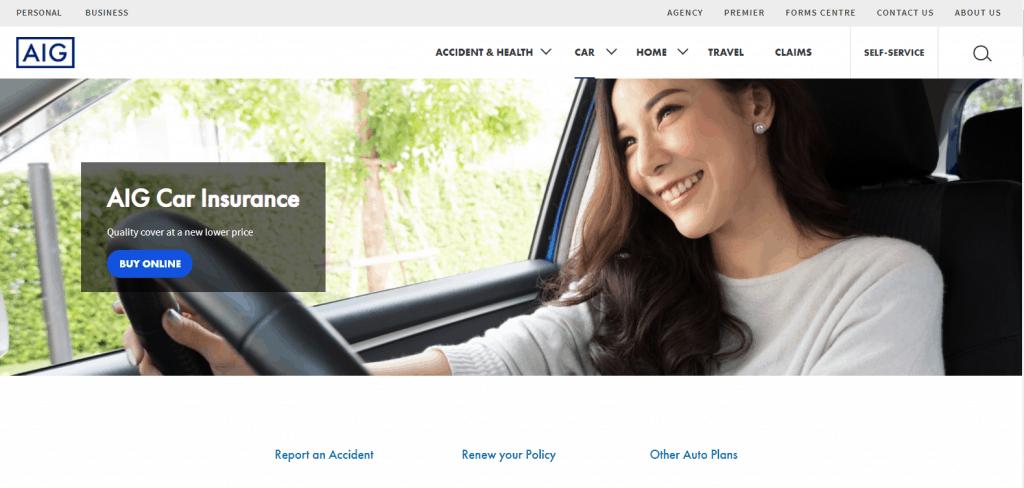 AIG car insurance in singapore