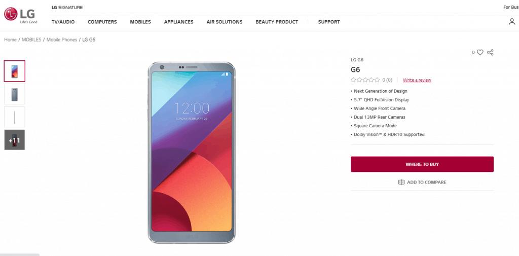 LG-G6 best battery life phone