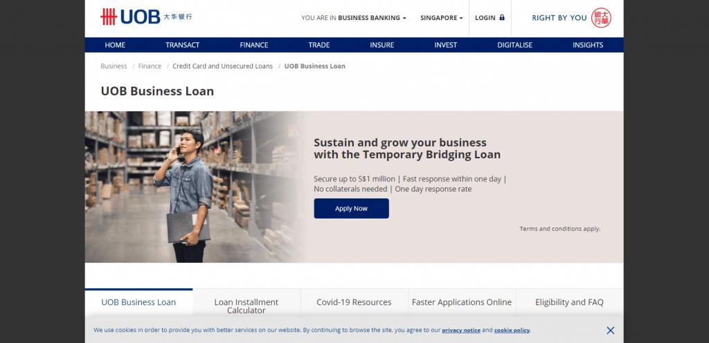UOB-business-loan in singapore