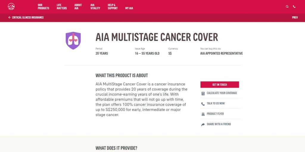 best cancer insurance in singapore_aia