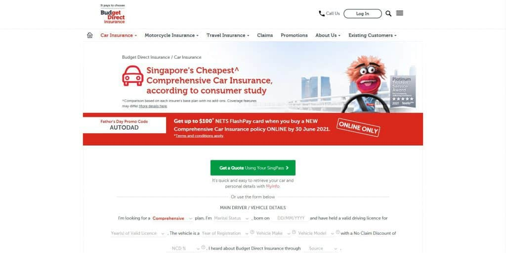 best car insurance in singapore_budget direct insurance