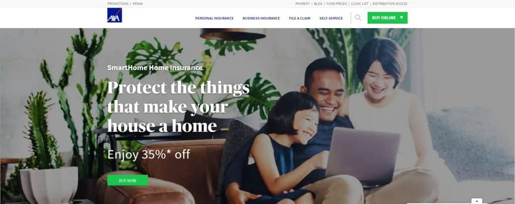 best home insurance in singapore_axa smarthome plan
