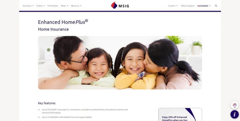 best home insurance in singapore_msig enhanced homeplus
