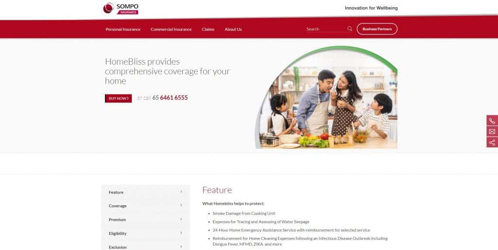 best home insurance in singapore_sompo homebliss cosy plan