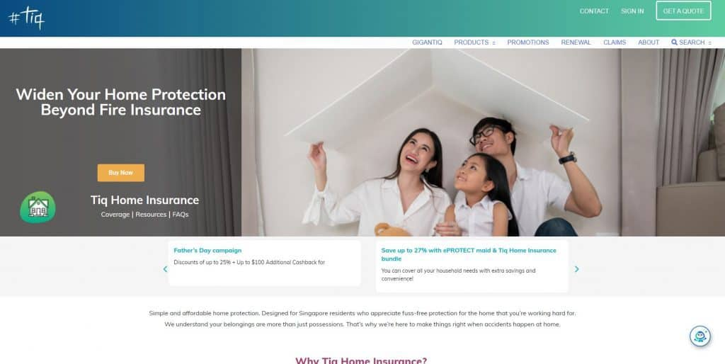 best home insurance in singapore_tiq home insurance
