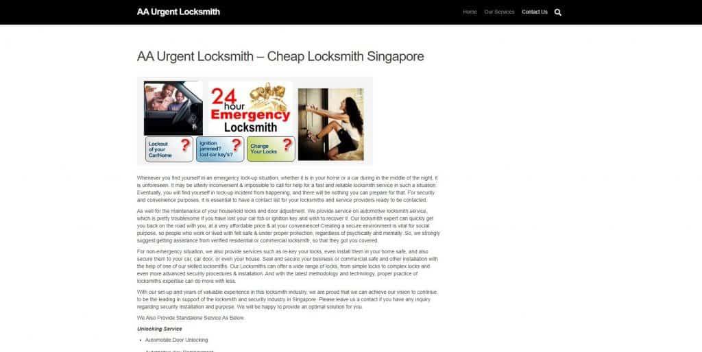 best locksmith in singapore_aa urgent locksmith