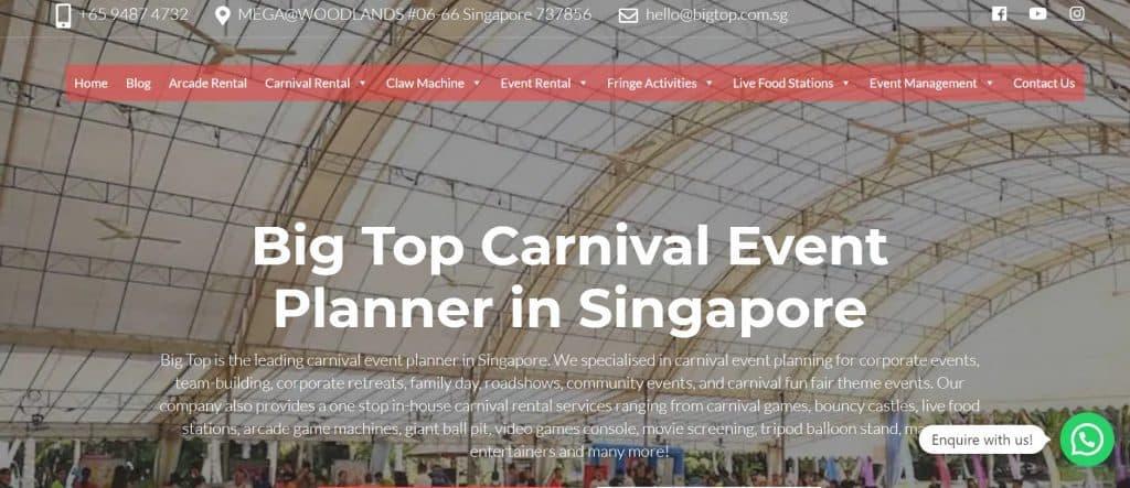 best event planner in singapore_big top