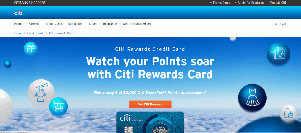 Citibank best credit card for fresh graduate in singapore