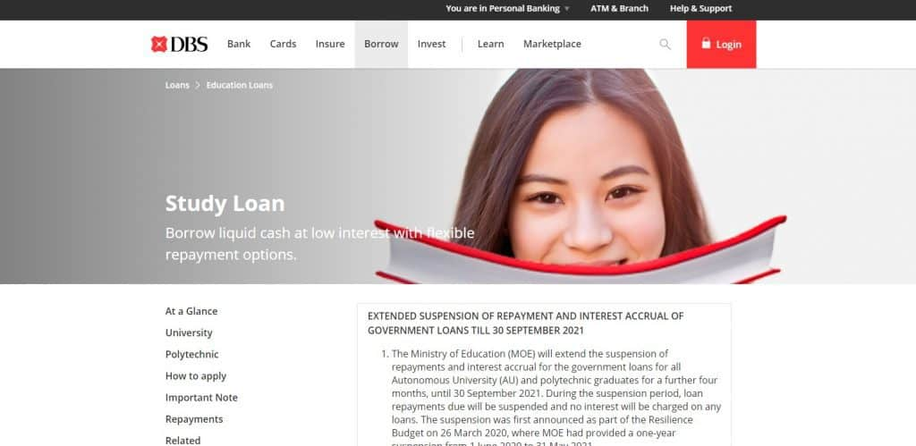 DBS Education Loan in SIngapore