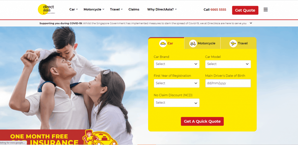 directasia car insurance in singapore