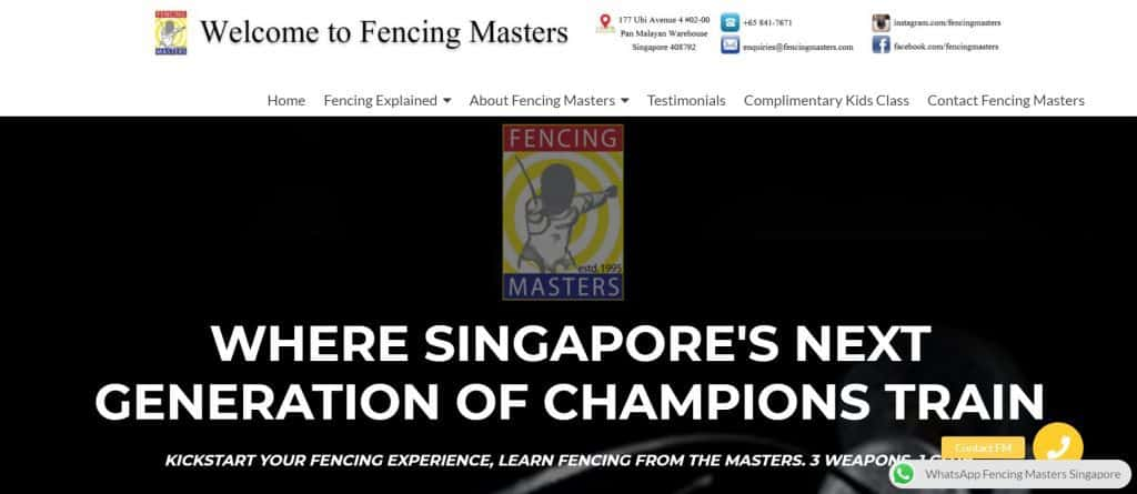 best fencing in singapore_fencing masters