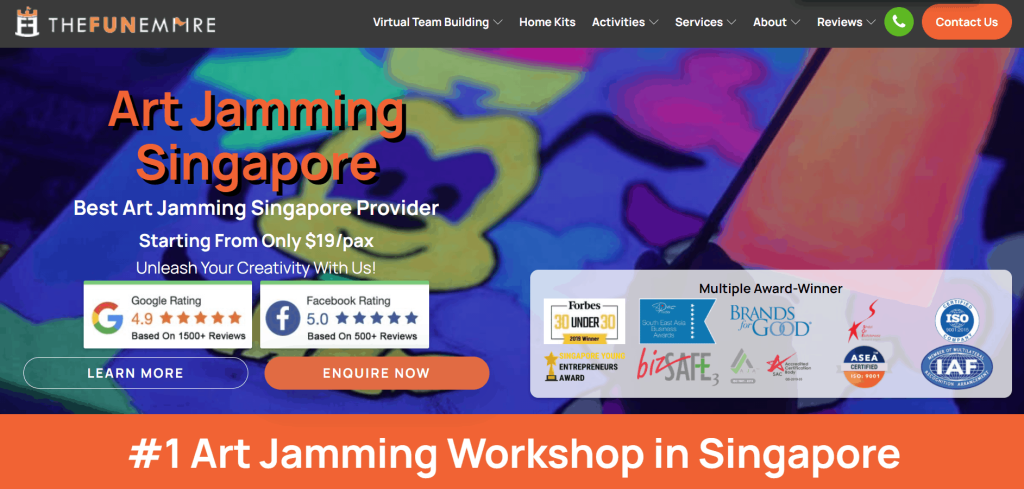 the fun empire_best art jamming studios in singapore