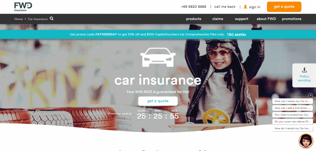 fwd car insurance in singapore