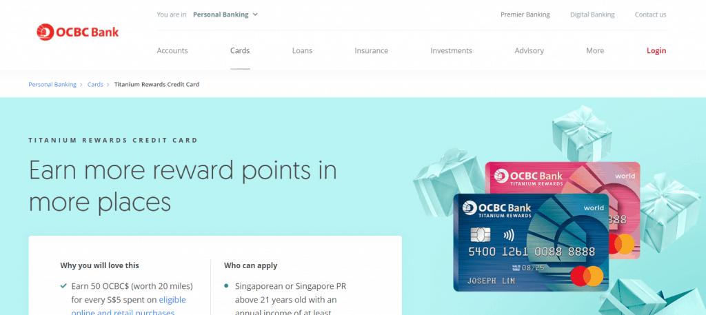 OCBC credit card for fresh graduate in singapore