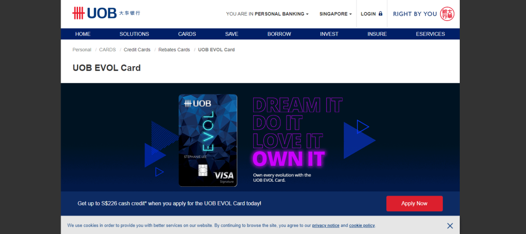 UOB best credit card for fresh graduate in singapore