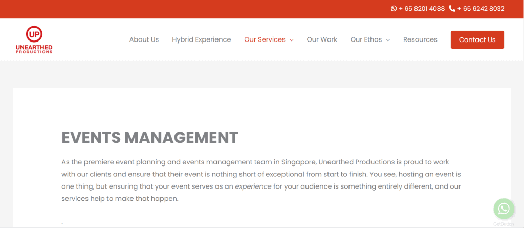 best event planner in singapore_unearthed productions