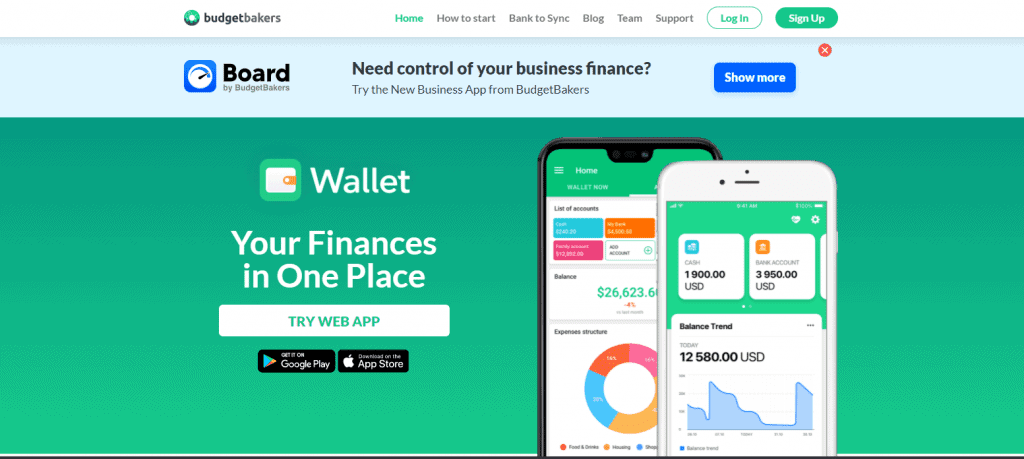 Budget-bakers expense tracker app in Singapore