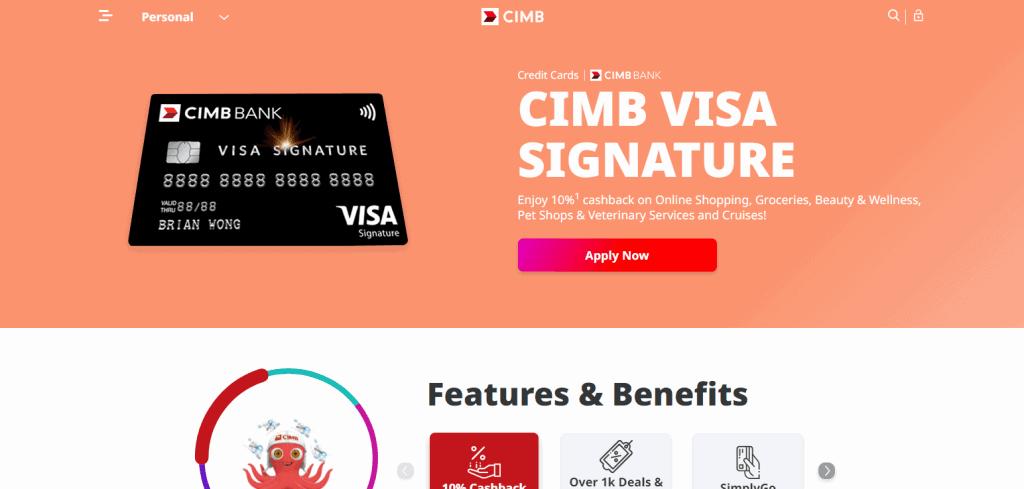 CIMB cash back credit in singapore