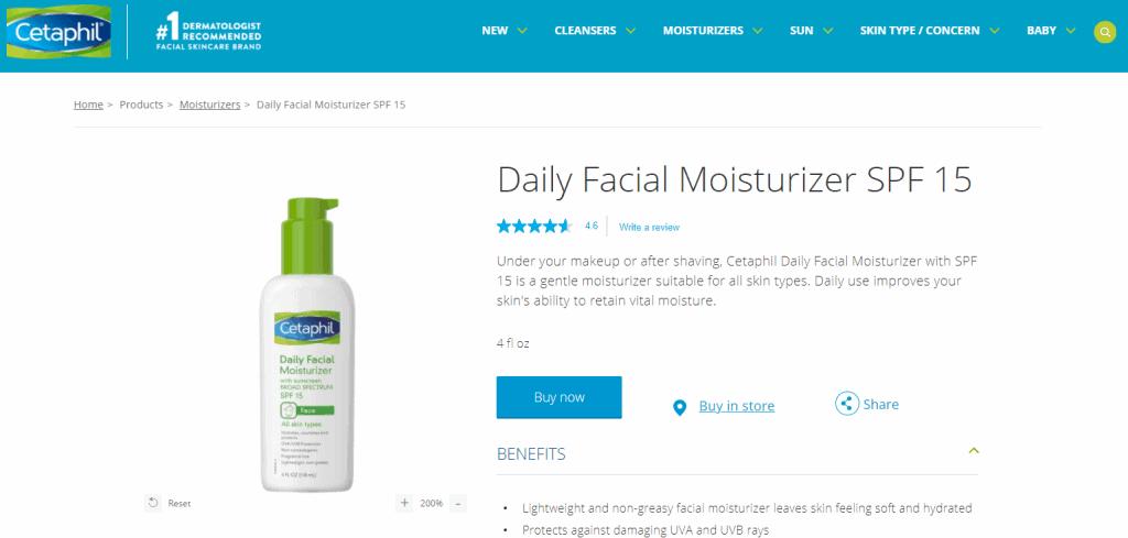 Cetaphil moisturizer in singapore