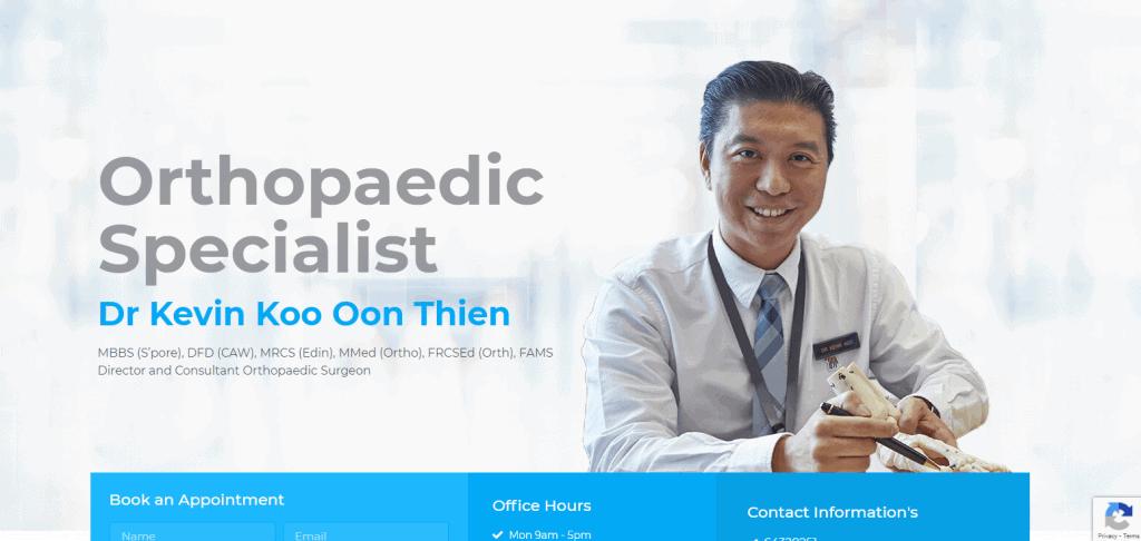 Dr-Kelvin-Koo shoulder specialist in Singapore