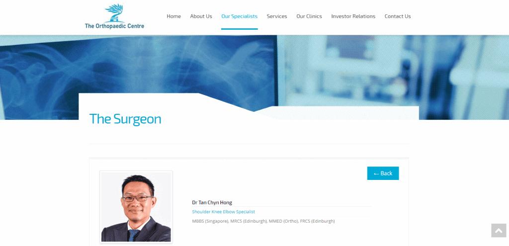 Dr-Tan shoulder pain specialist in Singapore