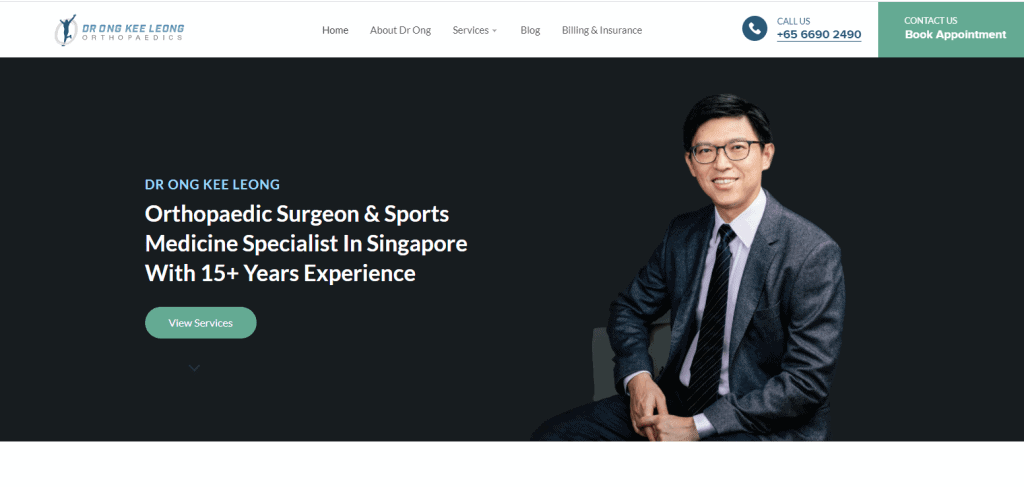 Dr-ong-kee-leong shoulder pain specialist in Singapore