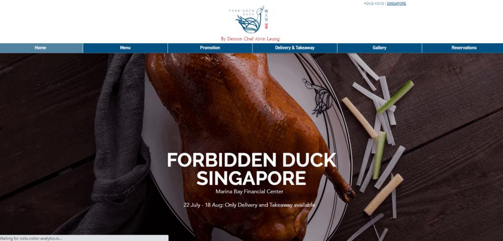 Forbidden-duck hong kong food in singapore