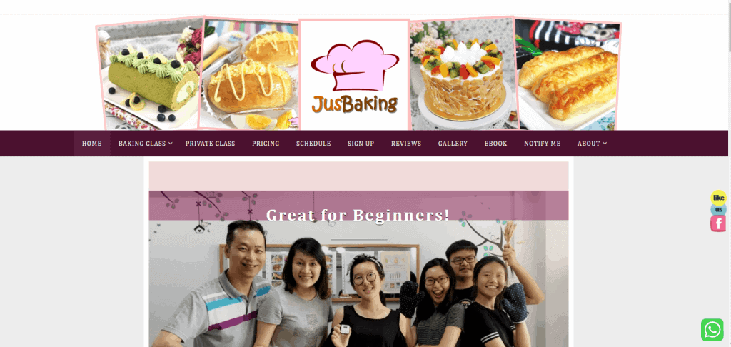 JusBaking cooking classes in singapore
