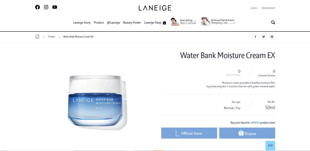 Laneige moisturizer in singapore