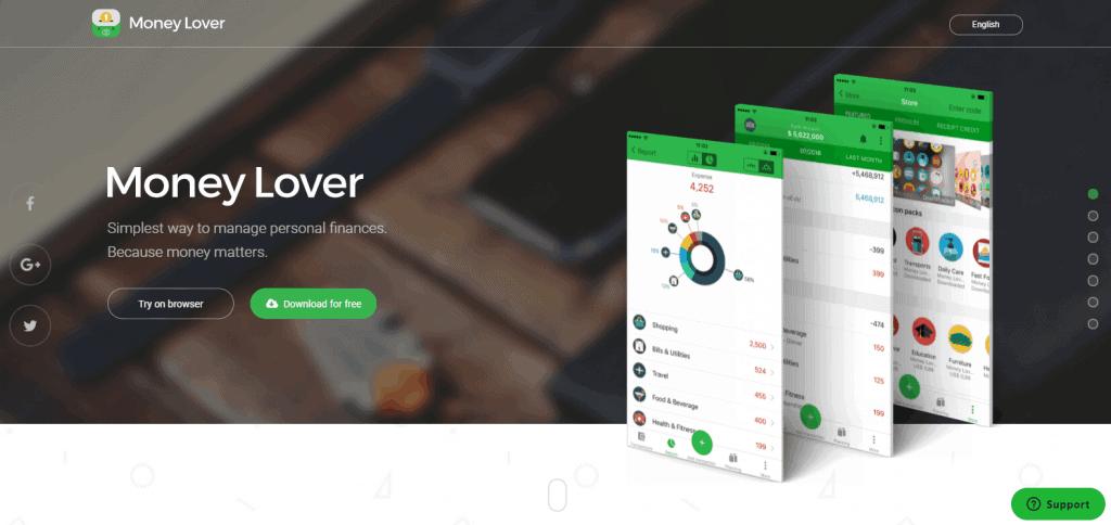 Money-Lover expense tracker app in singapore