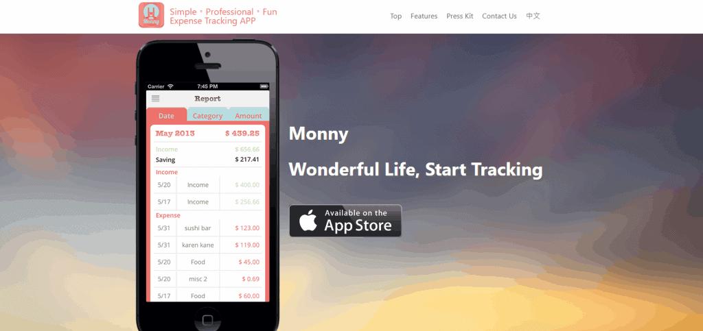 Monny expense tracker app in singapore