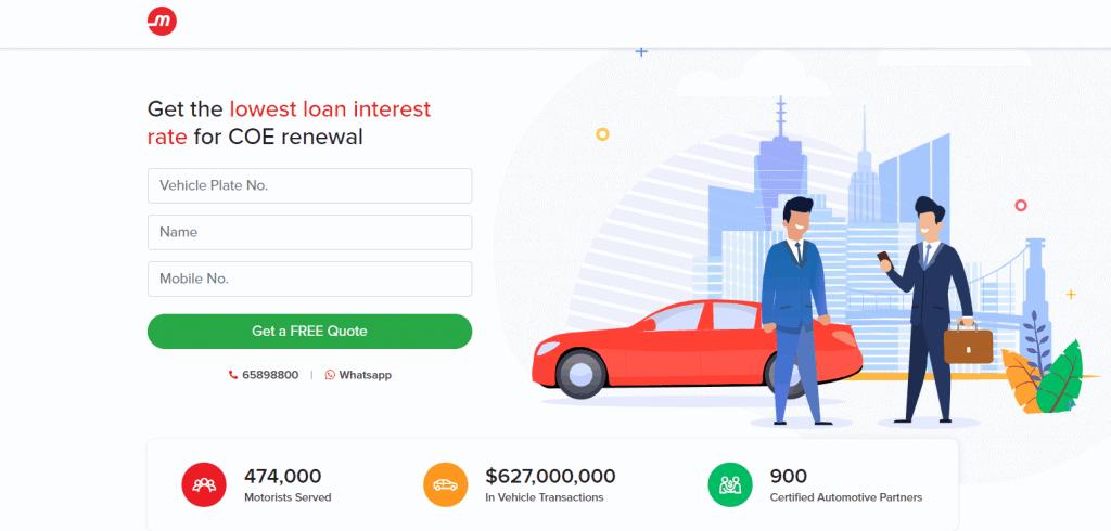 Motorist best car loan in singapore