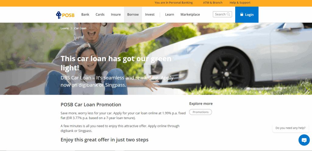 POSB best car loan in Singapore